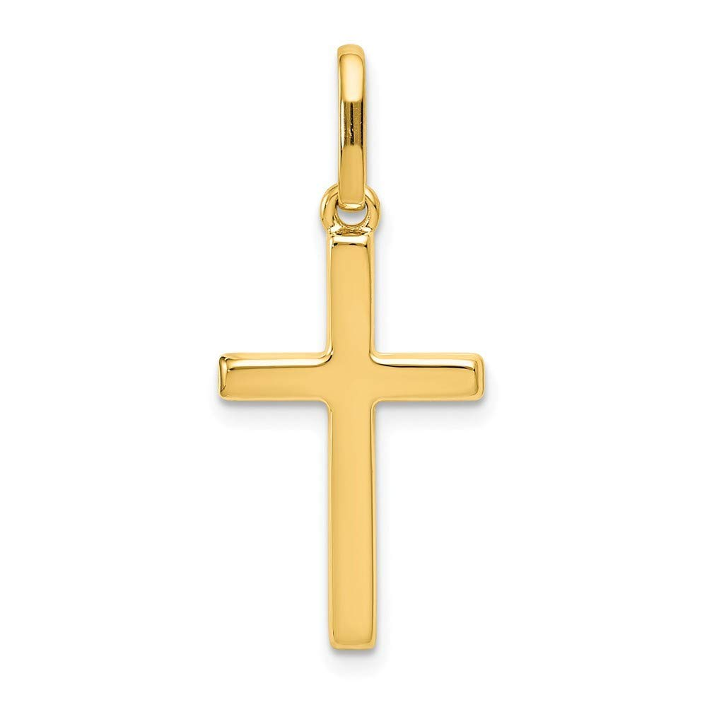 14K Yellow Gold Hollow Cross Pendant from Roy Rose Jewelry