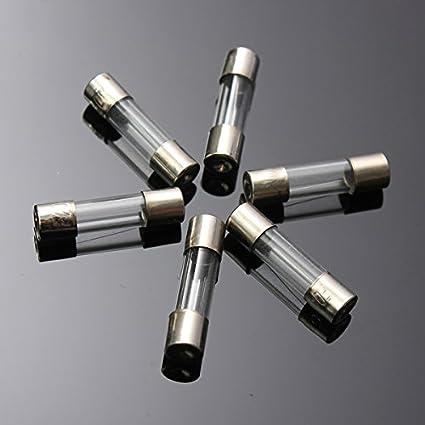Ultnice 100pcs Premium Quality Glass Fuses 5x20 Mm Fast Flink Quick Impact Car Glass Tube Fuses Assorted Kit Amp Baumarkt