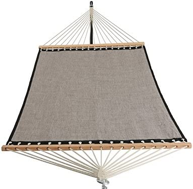 Patio Watcher 11 FT Quick Dry Hammock Bamboo Wood Spreader Bars Outdoor Patio Yard Poolside Hammock