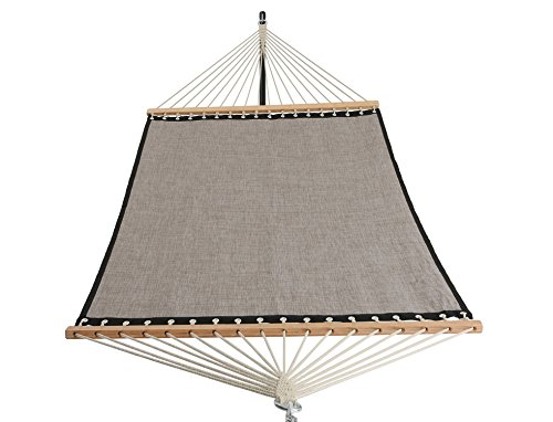 Patio Watcher 11 FT Quick Dry Hammock Bamboo Wood Spreader Bars Outdoor Patio Yard Poolside Hammock with Chain Hanging Kits and Hooks, Waterproof and UV Resistance,Mocha ()