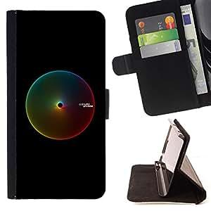 - Colors RGB - - Monedero PU titular de la tarjeta de cr????dito de cuero cubierta de la caja de la bolsa FOR Sony Xperia Z1 Compact D5503 RetroCandy