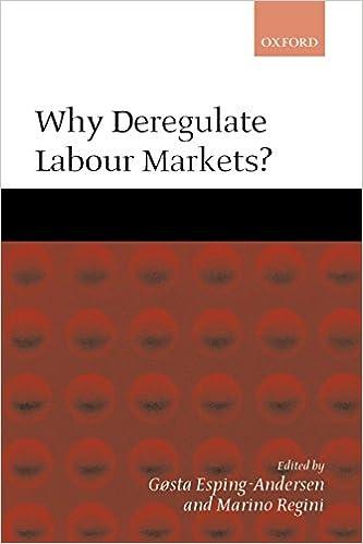 Amazon.com: Why Deregulate Labour Markets? (9780199240524 ...