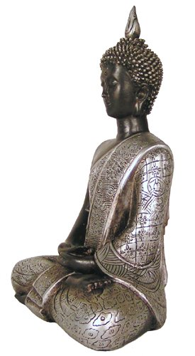 Thai Buddha Statue Serene Being Naga Land Tibet Sacred Stones Amulet by Nepal Crafts