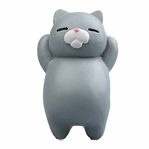 Funny 3D Cat Fridge Magnet, Witspace Animals Refrigerator Clip Resin Cartoon Sticker for Whiteboard/Calendar/Fridge (C)