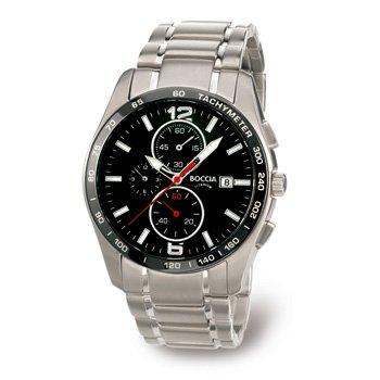 Boccia Men's Quartz Watch 3767-02 3767-02 with Metal Strap