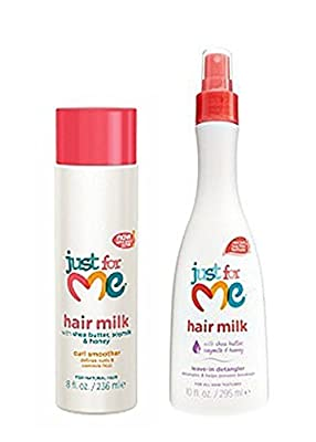 Just for Me Hair Milk Curl Smoother & Leave in Detangler Set