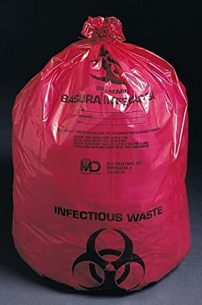 "Medical Action Industries Ultra-tuff Waste Bags 11"" X 14"" 1-6 Gallon 1.5 Mil - Model 50-42 - Box of 50"