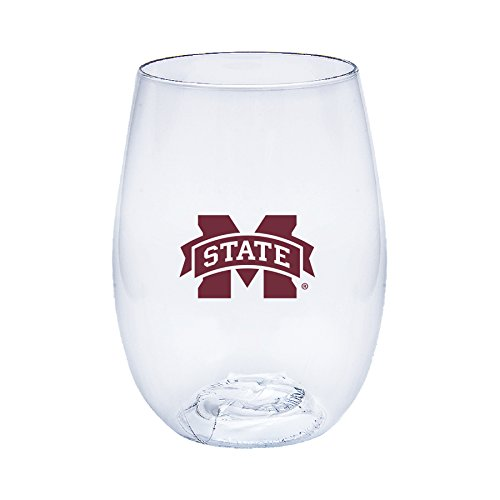 Neil Varsity Mississippi State Bulldogs Govino Shatterproof Wine or Beverage - Glass State Wine University