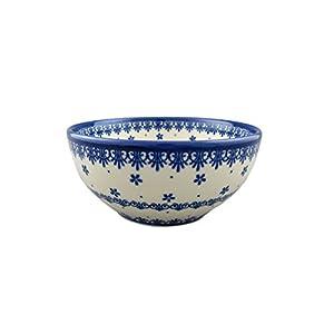 Boleslawiec Style Pottery Hand Painted Polish Ceramic Venus Bowl (16) 072-C-008
