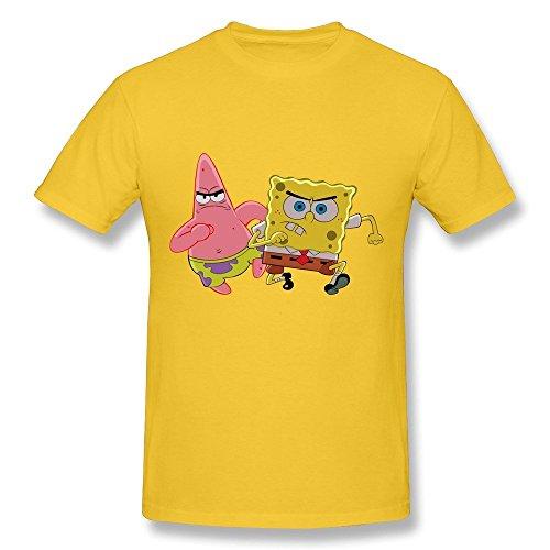 HD-Print New Design Spongebob Squarepants Sponge Bob Tshirt For Man Yellow Size M (Sponge Bob Ukulele)