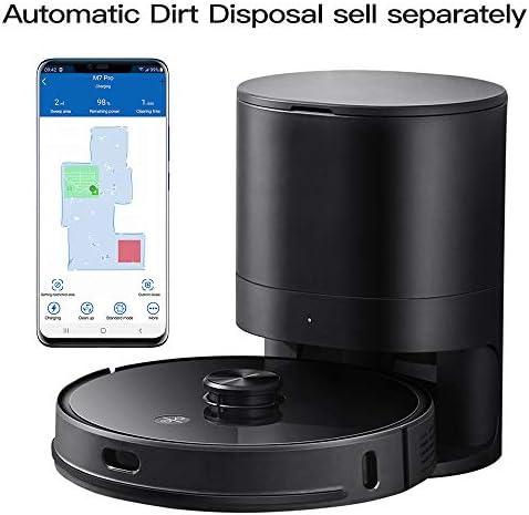 Proscenic, M7 PRO aspirateur robot, avec laser navigation intelligente, nettoyeur et laveur 2 en 1, connecté Wi-Fi, recharge automatique, Noir - Home Robots