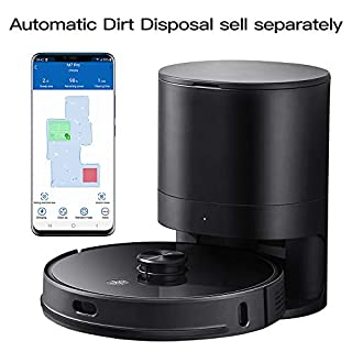 Proscenic M7 Pro LDS Robot Vacuum Cleaner, Laser Navigation, 2700Pa Powerful Suction, APP & Alexa Control, Multi Mapping, Ideal for Pets Hair, Carpets and Hard Floors, Black