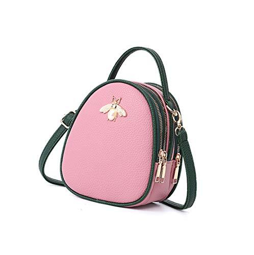 Classici Cinghia Borse Colore Messenger Spalla a Borse Secchiello Classica Xiuy Borse Metallo Splicing Borse Borse Donna Kawaii Mano a Pu Tracolla Da Lavoro Fashion Pink Personalizzati EWpqzpPRO