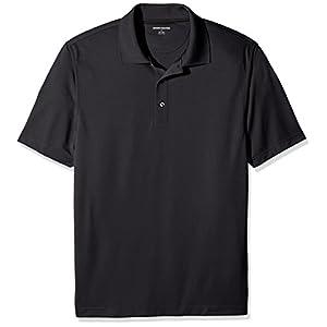 Amazon Essentials Men's Regular-Fit Quick-Dry Golf Polo Shirt, Black, X-Small