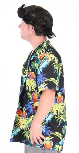 Pet Detective Hawaiian Ace Ventura Shirt & Wig Costume Set (Adult Small/medium) - Ace Ventura Pet Detective Costume