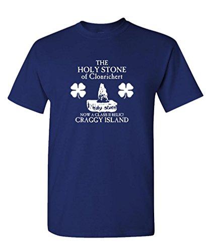 The Goozler HOLY Stone CLONRICHERT - Mens Cotton T-Shirt, L, Navy