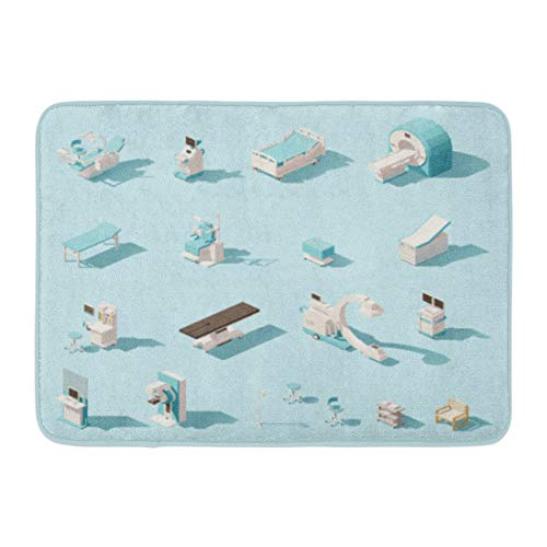 Used, Emvency Bath Mat Blue Isometric Low Poly Medical Equipment for sale  Delivered anywhere in Canada