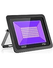 Uv-blacklight LED schijnwerper, Eleganted 100 W UV-schijnwerper, waterdicht IP66 UV-straler, ultraviolet lichteffect met AAN/UIT-schakelaar voor feest, DJ, podium, lichaamskleur, Halloween verlichting