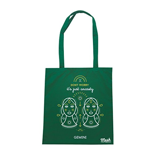 Borsa ZODIAC GEMINI - Verde prato - DIVERTENTE by Mush Dress Your Style