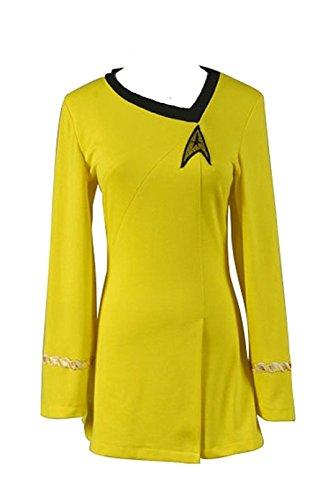 TISEA Women's Costume Cosplay Long Sleeve Skant Uniform Dress (M, -