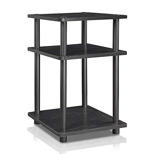 - Furinno 15095BW/BK Turn-N-Tube Multipurpose Shelf, Blackwood/Black