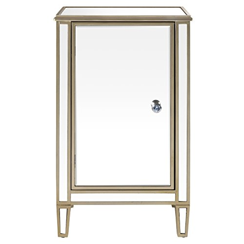 Pulaski Mirrored Wine Cabinet with Gold Trim by Pulaski