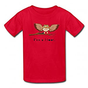 Opening is I'm A Cut Hoot Tshirt Printed Cotton Boys T-Shirts Fashion Boy Tee Red