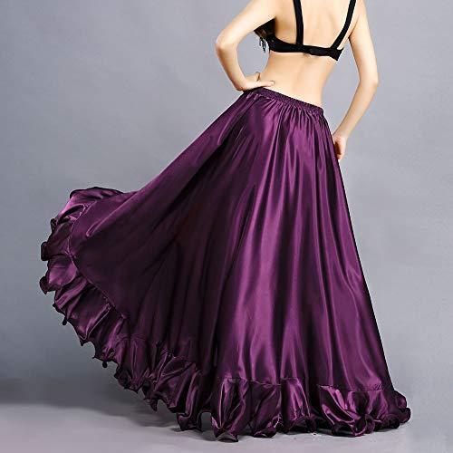 Di Royal Big Flamenco Maxi Abito Elastica Fessura Smeela Purple Danza Gonna Gonne Costume Alta Ruffles Mascherata Donne Swing Vita A Del Per Ventre Ampia rz7rxv