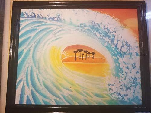 Ocean Wave Batik Art ()
