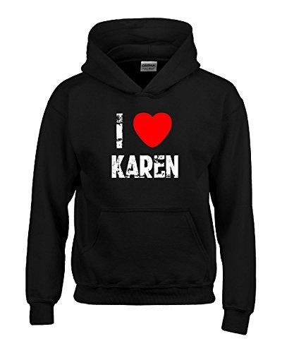 I Heart Karen Love-hoodie Black S