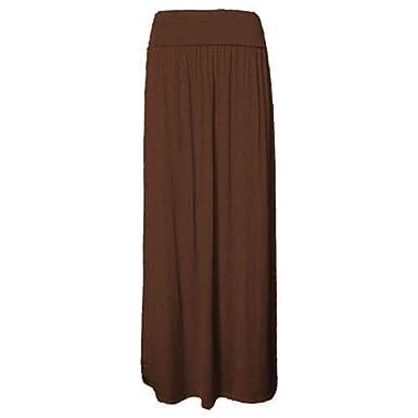 ZEE FASHION - Falda - para Mujer Marrón marrón XXX-Large (52-54 ...