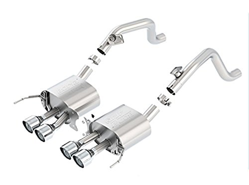 (BORLA 11881 ATAK Rear Section Exhaust System (Round Tips) )