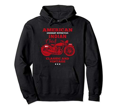 Vintage American Motorcycle Indian old bikers Hoodie