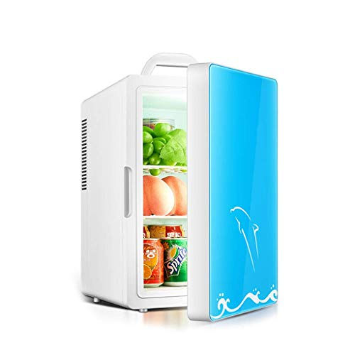 Mini Fridges Appliances Dual-core car Refrigerator Small Refrigerator for Household use Cold and Warm Box for Mini Dormitory Multi-Function 16L Refrigerator (Color : Blue, Size : 32 26 42cm) (Used 3 Way Caravan Fridge For Sale)