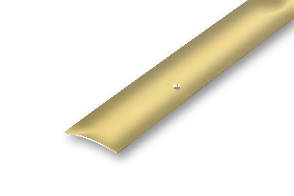 40 x 1000 mm seite gebohrt Voll Messing /Übergangsprofil 40 x 1000 mm gl/änzend poliert echt Messing-massiv seite gebohrt inkl Montagematerial