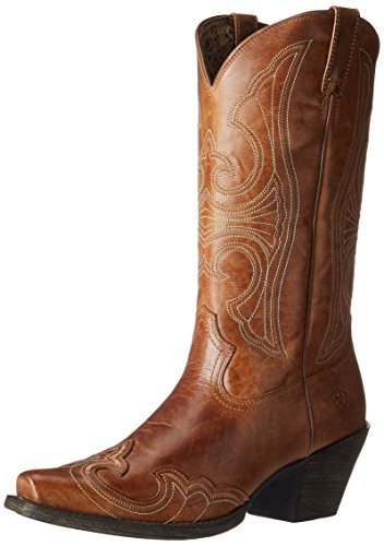 Ariat Women's Round Up D Toe Wingtip Western Cowboy Boot, Sandstorm, 8.5 B US