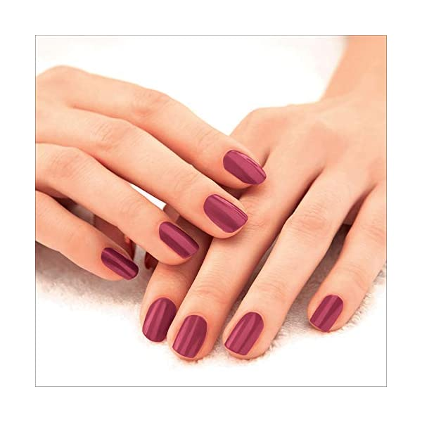 Lakmé 9 to 5 Primer + Gloss Nail Colour, Berry Business, 6 ml 2021 July Primer + gloss nail colour that dries quickly and lasts long intense glossy shine long-lasting nail colour