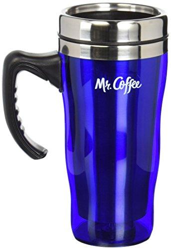 Mr Coffee Morning Fix 16-Ounce Covered Travel Mug, - Travel Angel Ceramic Mug