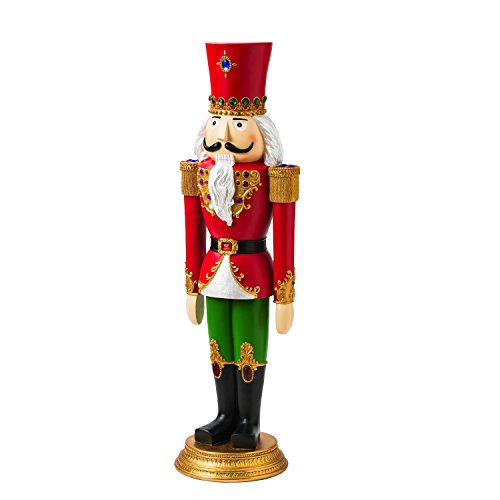 New Creative 55-inch Regal Nutcracker Outdoor Safe Garden Statue