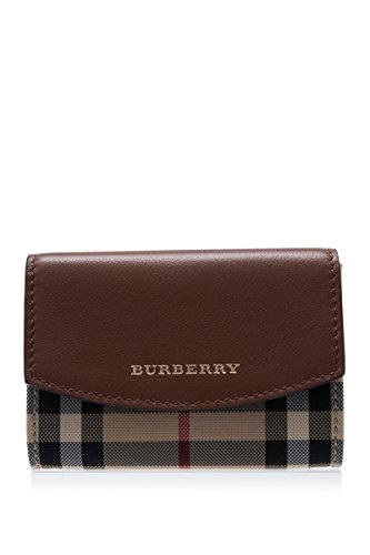 Burberry Horseferry Check Chesham Card Case Leather Brown New (Burberry Men Wallet)