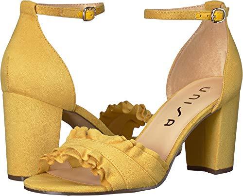 Yellow Dress Sandals (Unisa Women's Danni Light Mustard 6.5 M US)