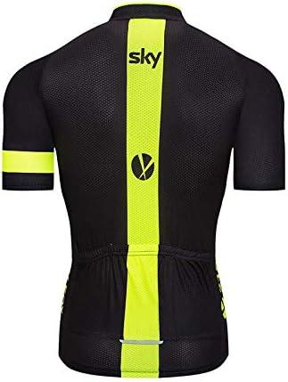 SUHINFE Mens Ciclismo Jersey Team Ciclismo Ropa Jersey Camisa de Secado R/ápido Ropa Al Aire Libre de La Bicicleta