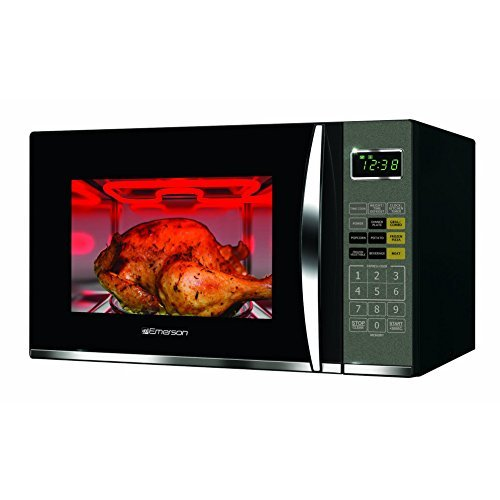 Emerson 1.2 CU. FT. 1100W Griller Microwave Oven with Touch Control, Stainless Steel, MWG9115SB from Emerson Radio