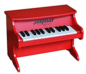 Amazon Com Jaymar 25 Key Table Top Piano Red Toys Amp Games