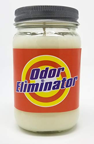 - S&M Candle Factory Odor Eliminator 3 Wick Scented Soy Wax 12oz -14.5oz, and 16oz Candles ~ 75 to 100 Hour Burn Time ~ Odor Exterminator Candle~ Made in USA (16oz, Orange Label)