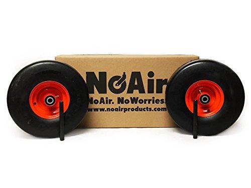 - NoAir (2) Kubota Flat Free Tire Assemblies 15x6.00-6 Fits ZD321, ZD323, ZD326, ZD331