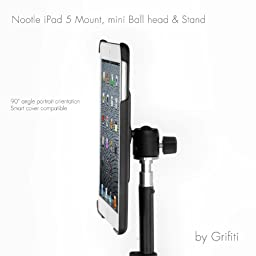 GRIFITI Nootle Stand with Mini Ball Head and Travel Case, Black
