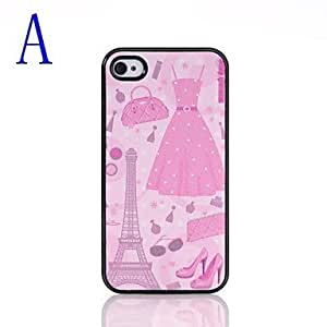 Nsaneoo - Fashion Paris Pattern Pasting Skin Plastic Case for iPhone 4/4S , B