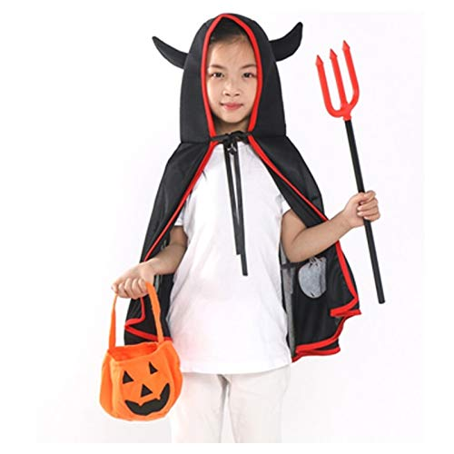 Party Diy Decorations - Costume Halloween Party Cloak Girls Red Devil Cosplay Demon Pumpkin Bag 7h0184 - Party Decorations Party Decorations Halloween Skeleton Cloak Black Cosplay Child Devil D]()