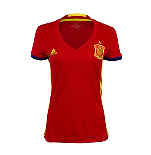 Adidas Spain Home Womens Jersey [Scarlet/Yellow] (XL) ()